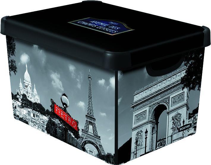 Úložný box s vekom CURVER- Paríž,veľkosť L