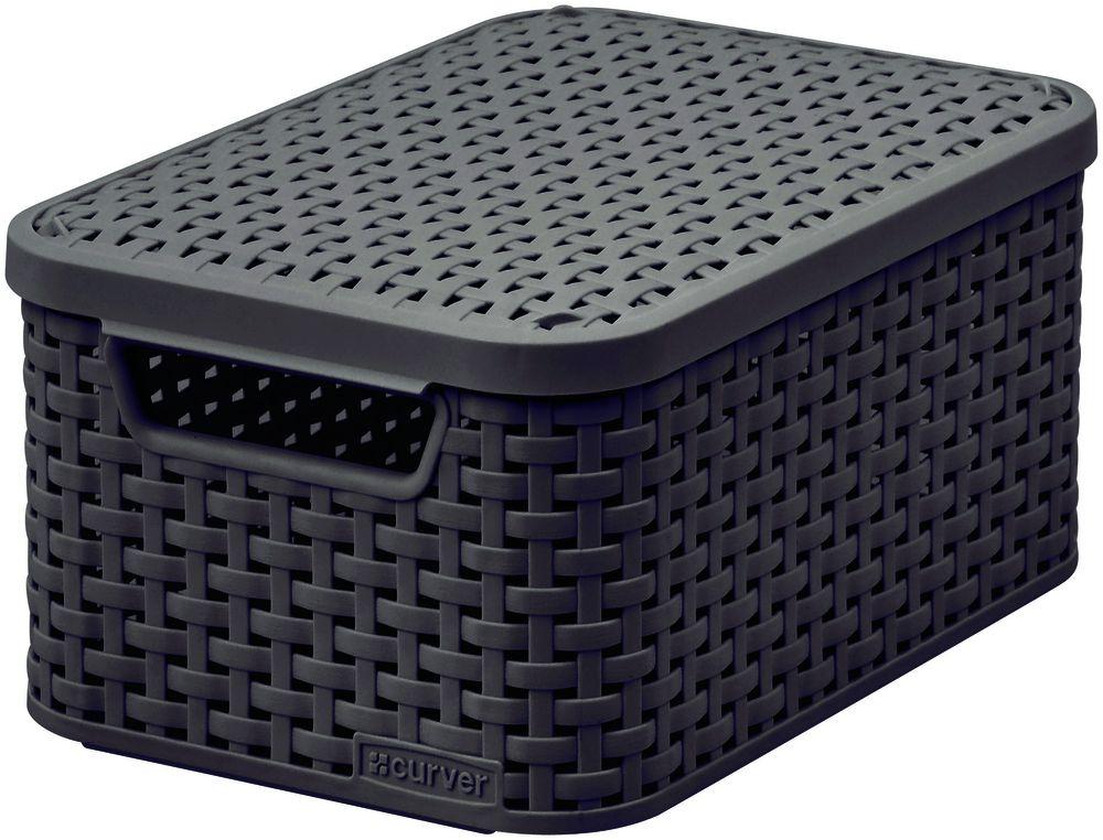 CURVER úložný box RATTAN M, 39,3 x 29,3 x 18,7 cm, hnedý, 03618-210