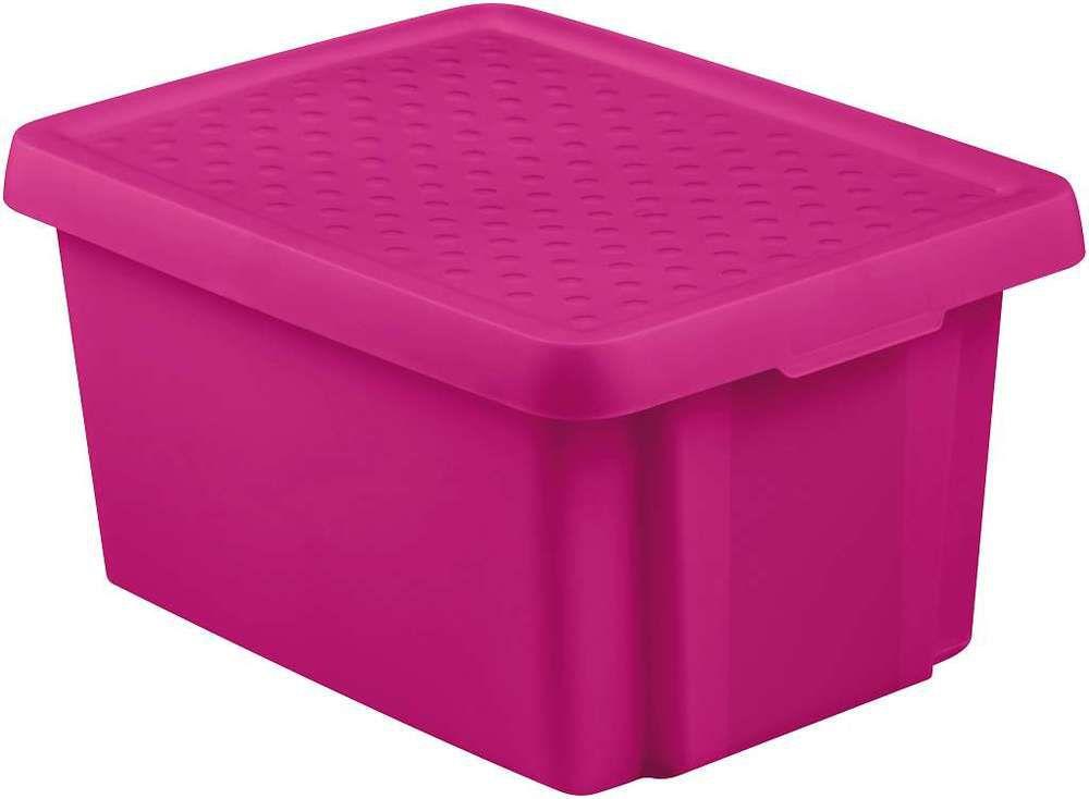 Úložný box s vekom CURVER - fialový 16 l