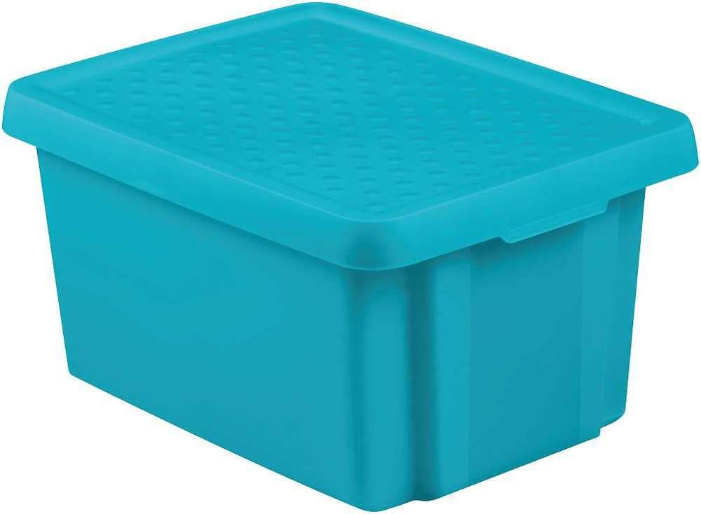 Úložný box s vekom CURVER- modrý 16 l