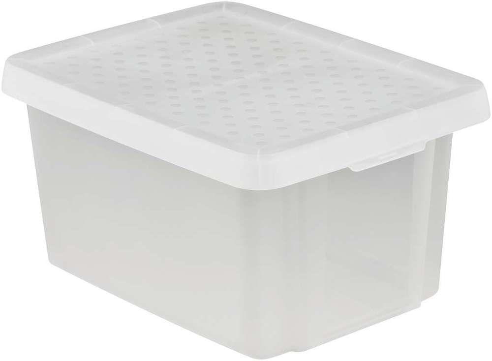 Úložný box s vekom CURVER - transparentný 16 l