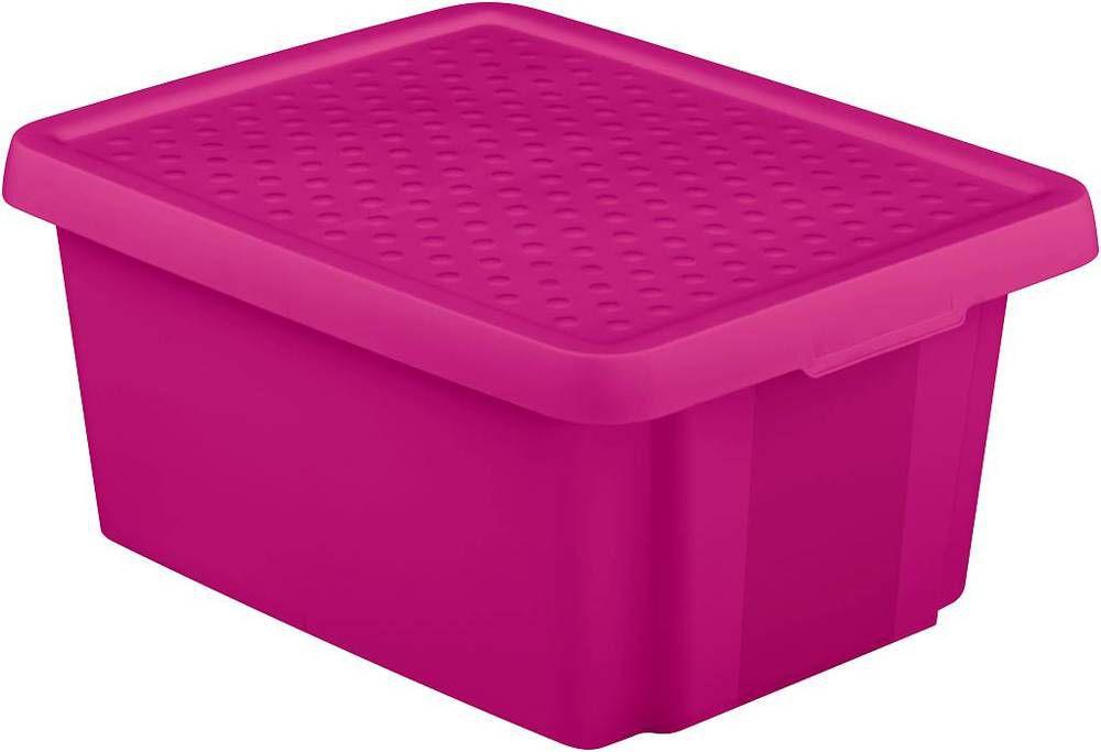 Úložný box s vekom CURVER- fialový 20 l