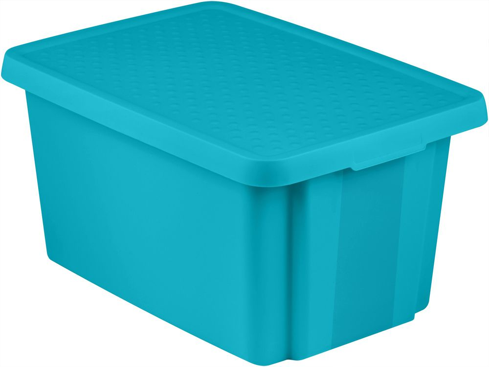 Úložný  box s vekom  26 l - modrý CURVER