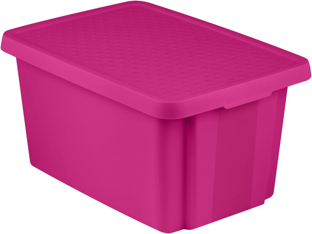 Úložný box s vekom 45 L - fialový CURVER