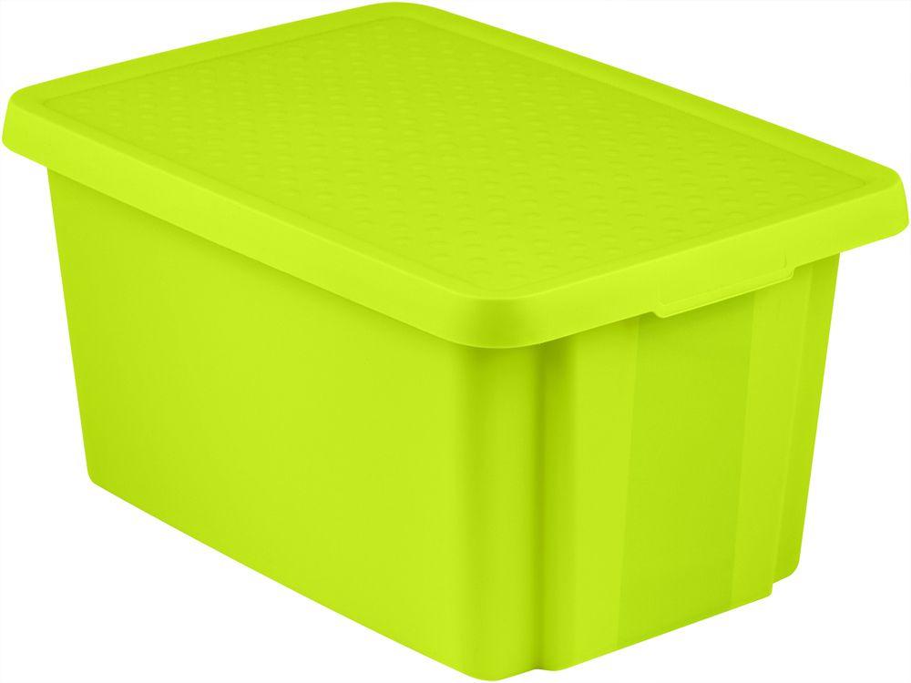 Úložný box s vekom CURVER - zelený 45 l