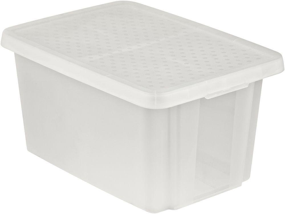 Úložný box s vekom CURVER- transparentný 45 l
