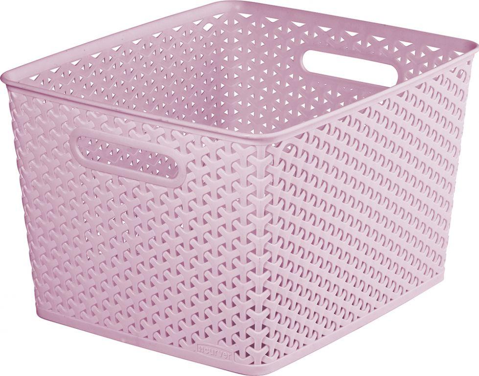 CURVER plastový košík - L - ružový