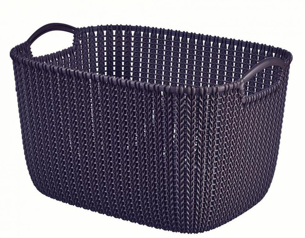 CURVER fialový plastový košík 19 l
