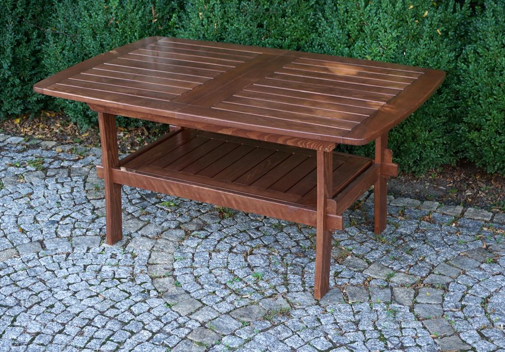 Záhradný drevený stôl MORENO