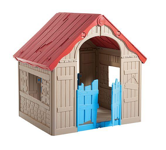 Detský hrací domček skladací - interiér / exteriér