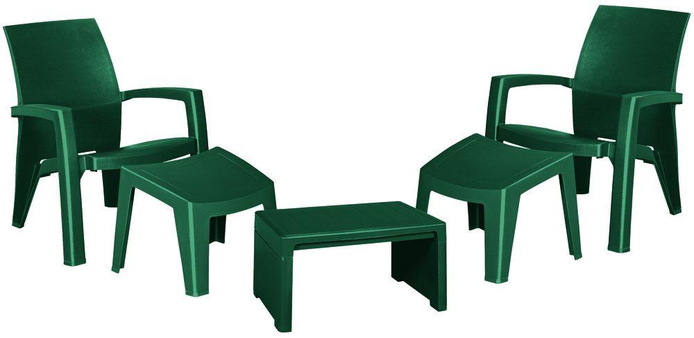Záhradný plastový set LAGO MAXI - zelený