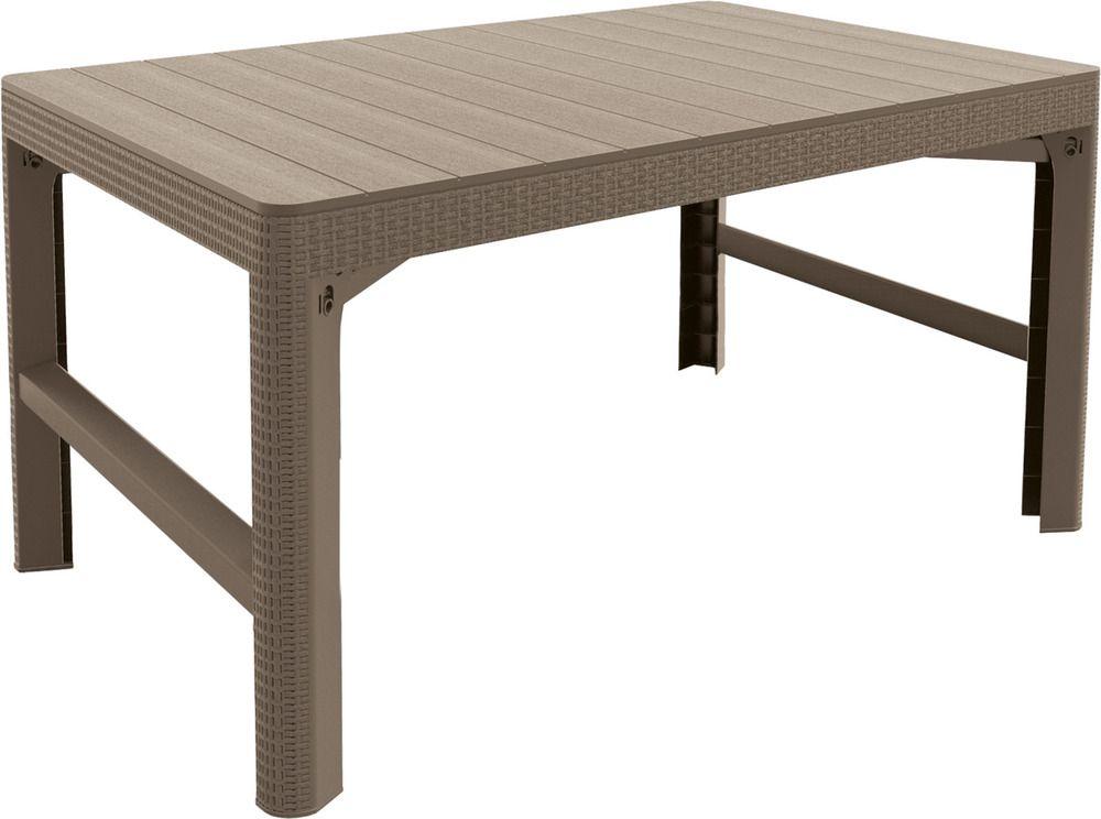Záhradný plastový stôl LYON 116 x 72 cm - capuccino