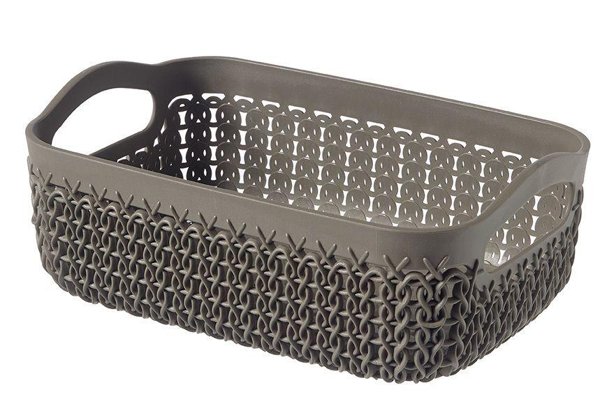 Polyratanový košíček KNIT A6 - hnedý
