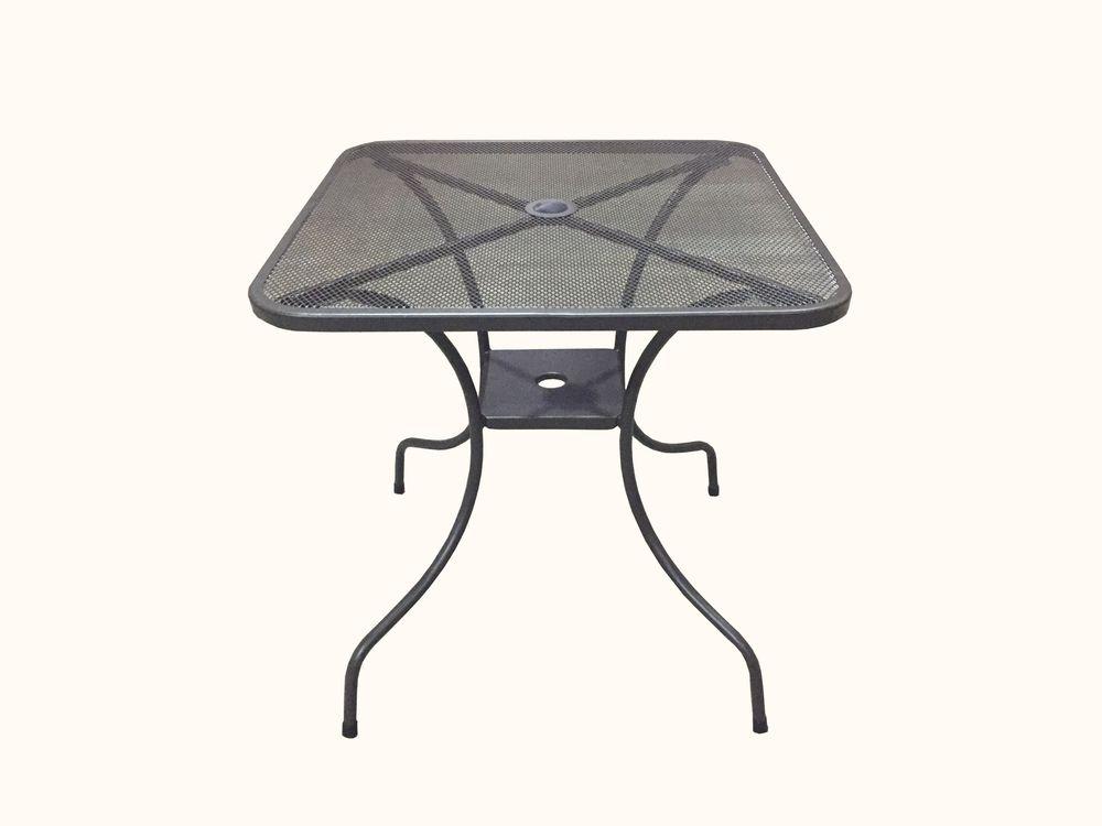 Záhradný kovový stôl ZWMT-60 - štvorec 60 x 60 cm