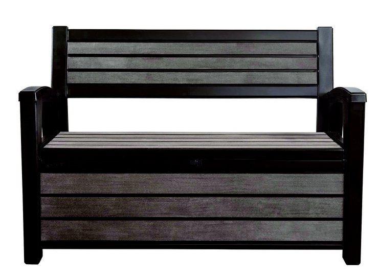 Záhradná lavica s úložným priestorom HUDSON - antracit