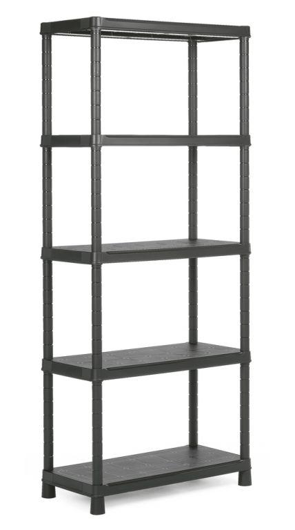 Plastový otvorený regál PLUS 80/5 - 187 x 80 x 40 cm