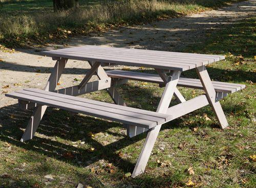 Záhradný set PIKNIK sivý - 160 cm
