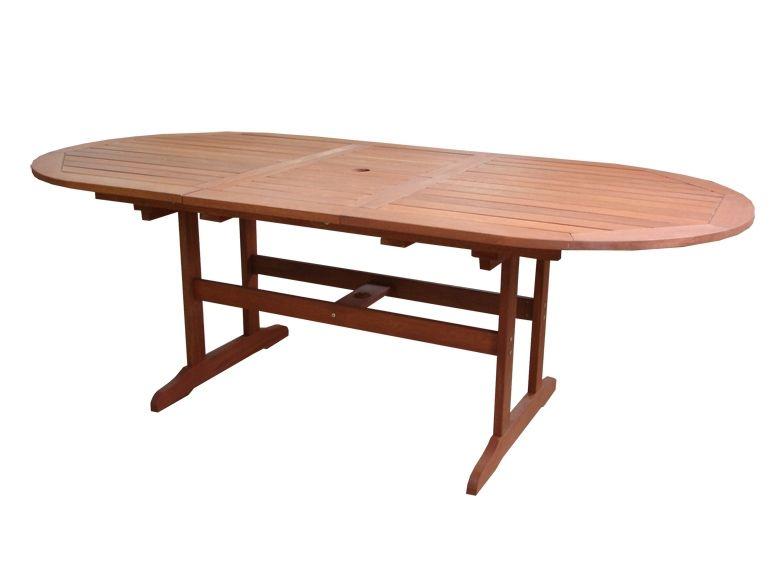 Záhradný stôl AWARD rozkladací drevený - 175 - 220 cm