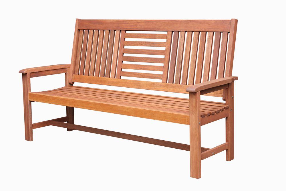 Záhradná drevená lavica SEREMBAN - 178 cm