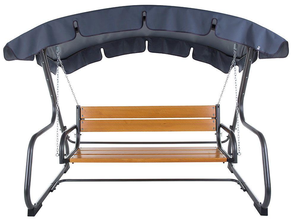Záhradná kovová hojdačka s drevenou sedačkou VERONA