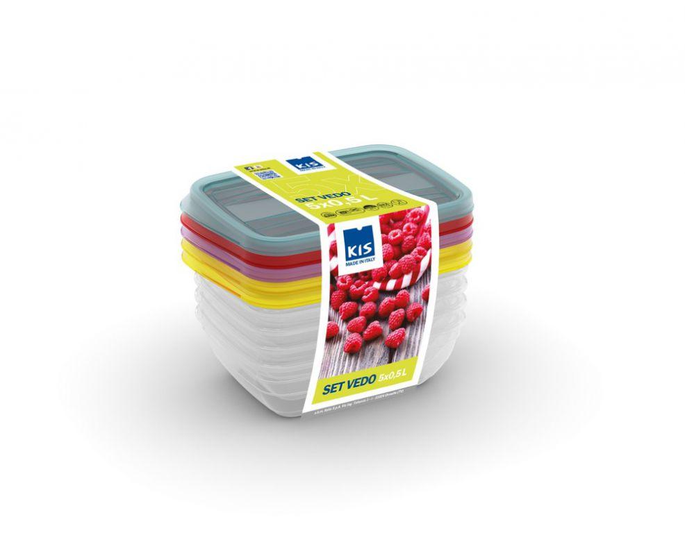 Set potravinových dóz VEDO- 5 x 0,50 l