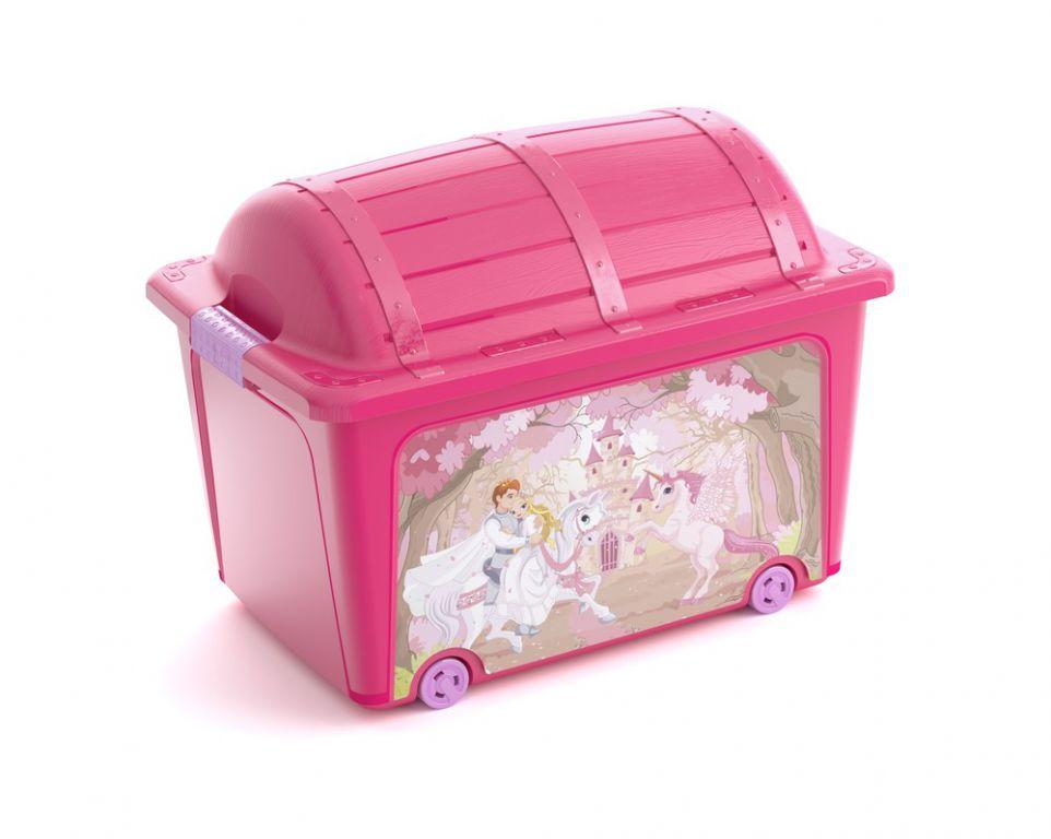 Plastový box KIS - truhla ružová