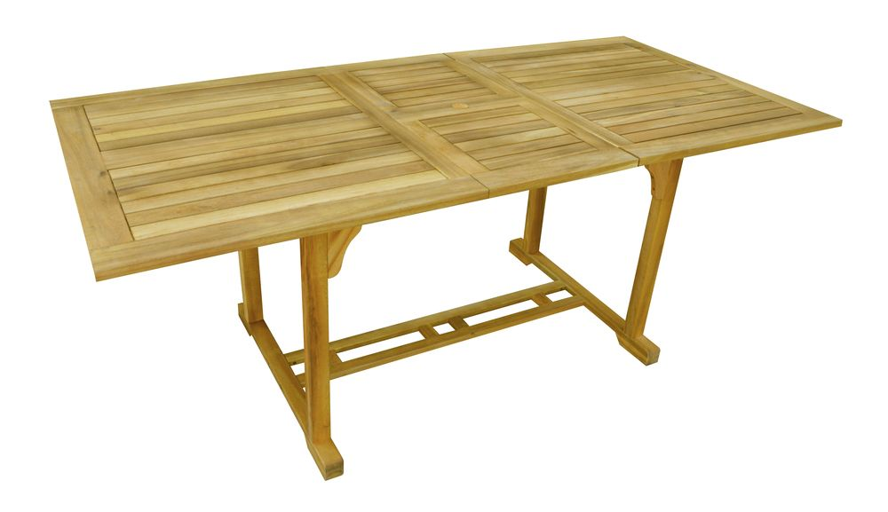 Záhradný drevený rozkladací stôl IRIS