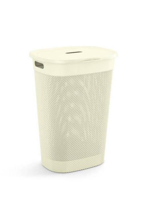 Plastový kôš na bielizeň FILO - krémová