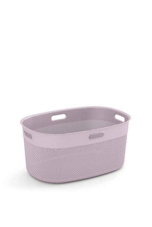 Plastový kôš FILO na čistú bielizeň - ružový