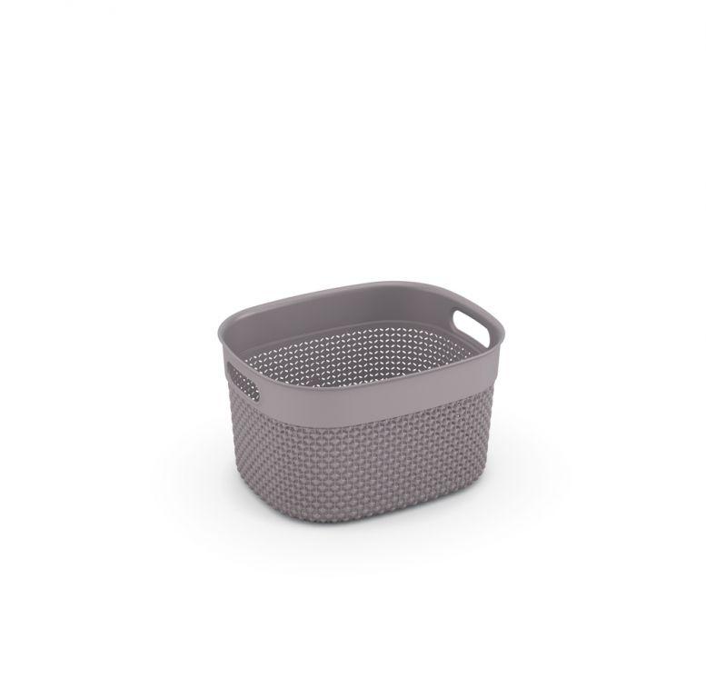 Plastový košík FILO S - hnedosivá