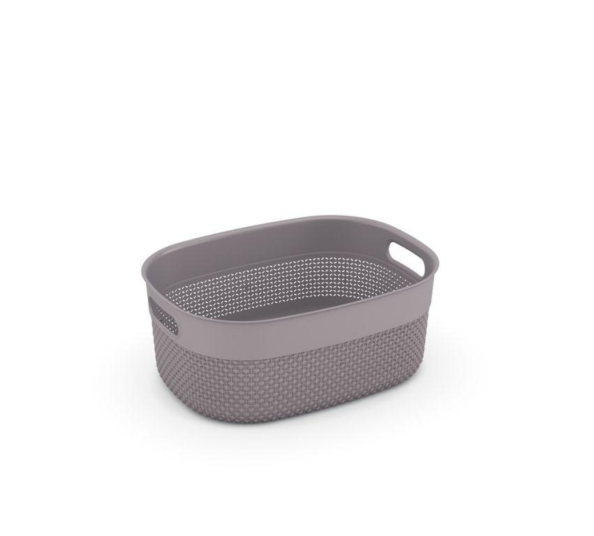 Plastový košík FILO hnedo-šedý