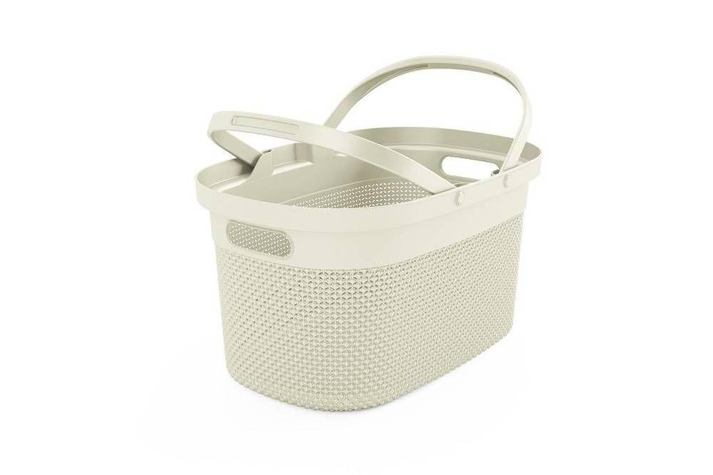 Plastový košík FILO - krémový