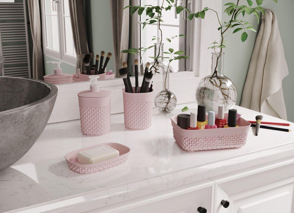 Plastový kelímok na kefky FILO - ružový