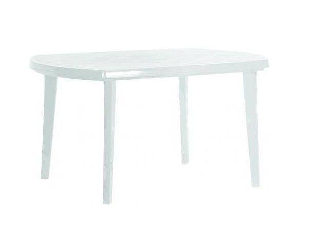 Záhradný plastový stôl ELISE biely
