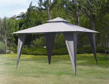 Záhradný Altánok HFL001-PA šedý 3,5 x 3,5 m