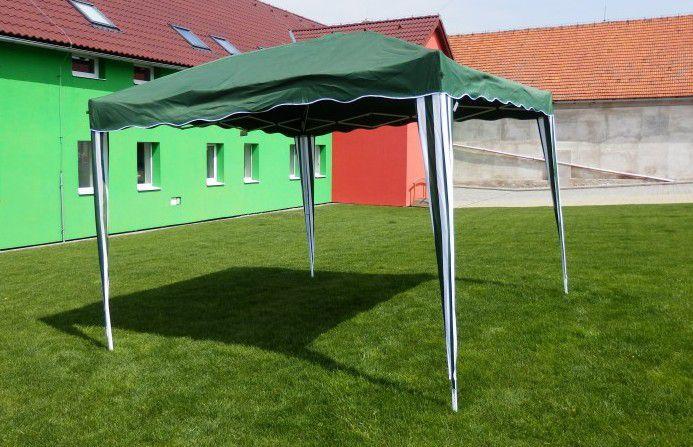 Záhradný stan F002-PL zelený 3 x 3 m nožnicový