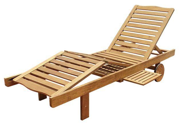 Záhradné drevené lehátko LEILA - 30 x 60 x 200 cm