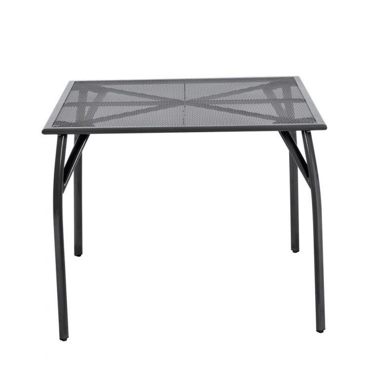 Záhradný kovový stôl - 72 x 90 x 90 cm