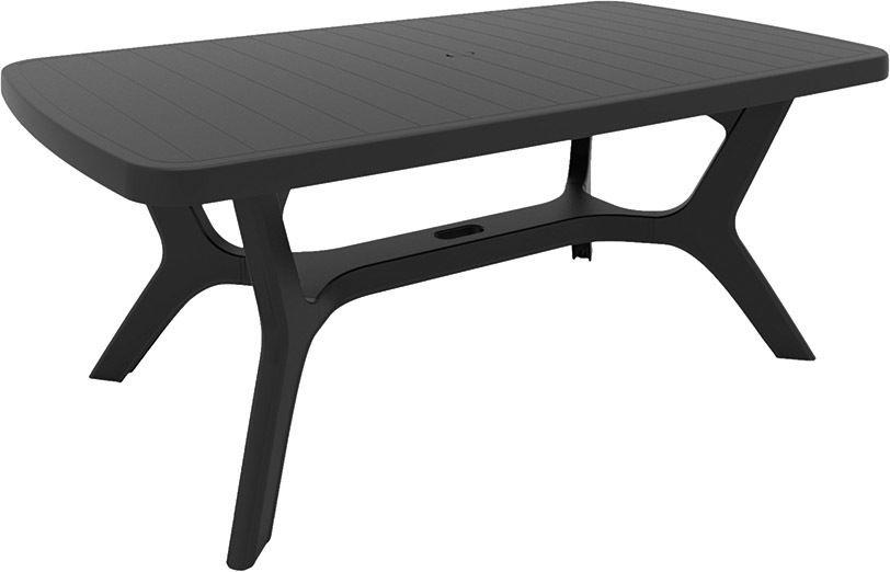 Záhradný plastový stôl BALTIMORE - grafit