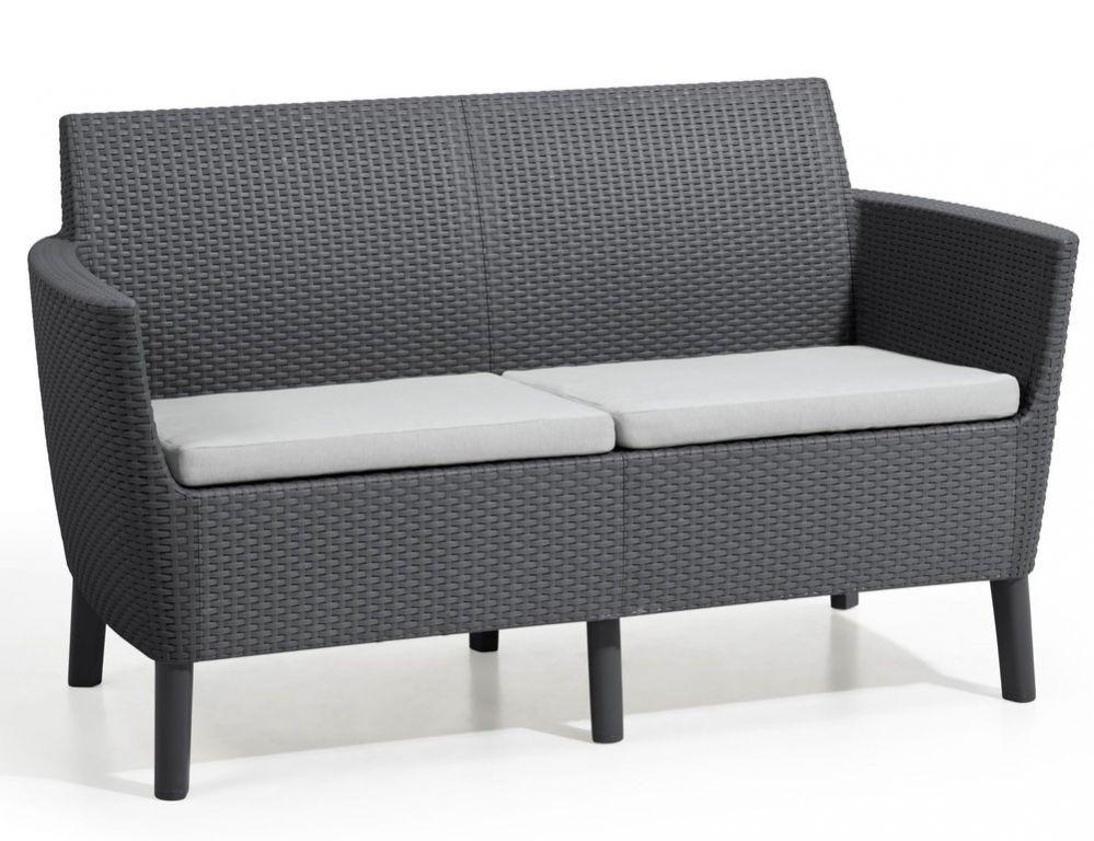 SALEMO dvojmiestna sofa - grafit