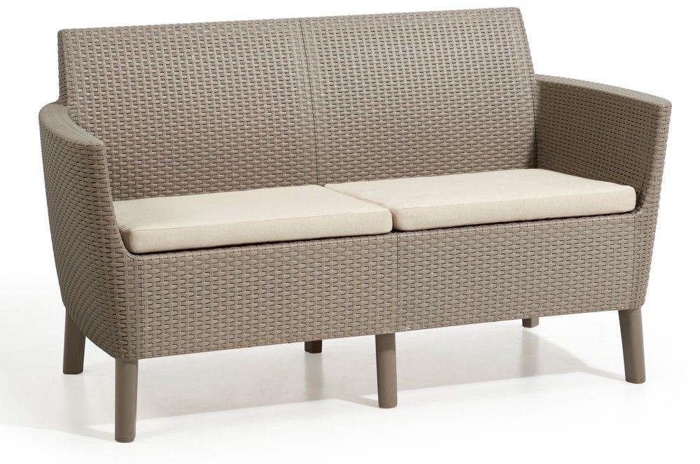 SALEMO dvojmiestna sofa - cappuccino