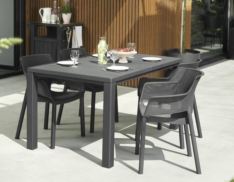 Stôl Júlia - 146 cm, antracit