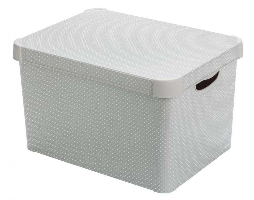 CURVER úložný box - vel. L, s bodkami