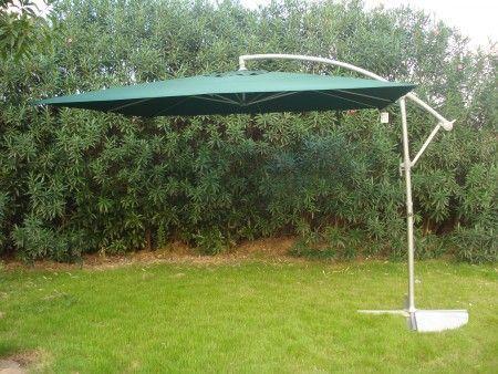Štvorcový slnečník 8080 bočný zelený 270 x 270 cm