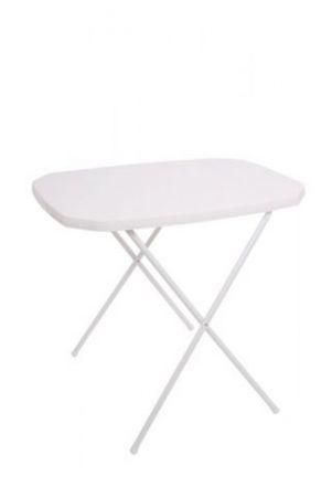 Stôl camping 53 x 70 cm biely