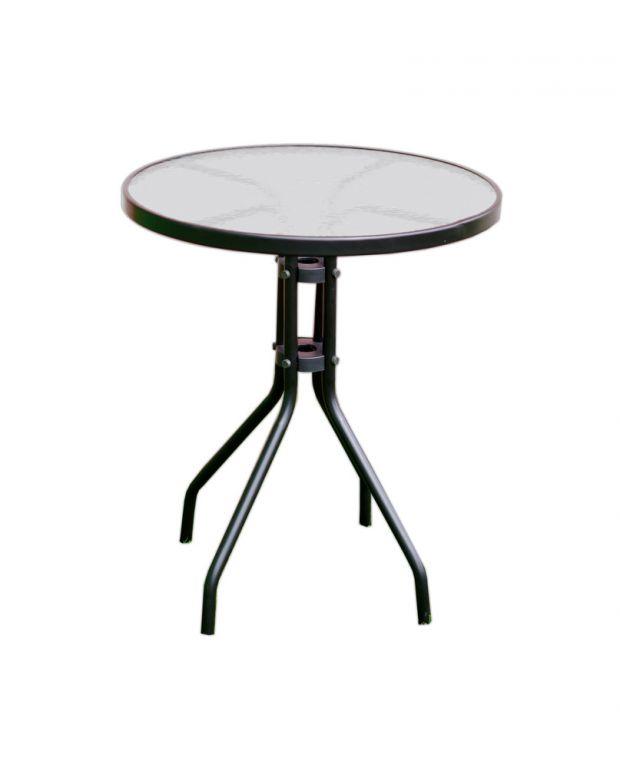 Záhradný stôl so sklenenou doskou ZWT-03 ø 60 cm