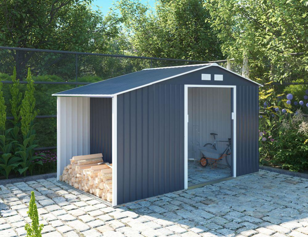Záhradný domček LUKE A, 195 x 278 x 127 cm, sivý