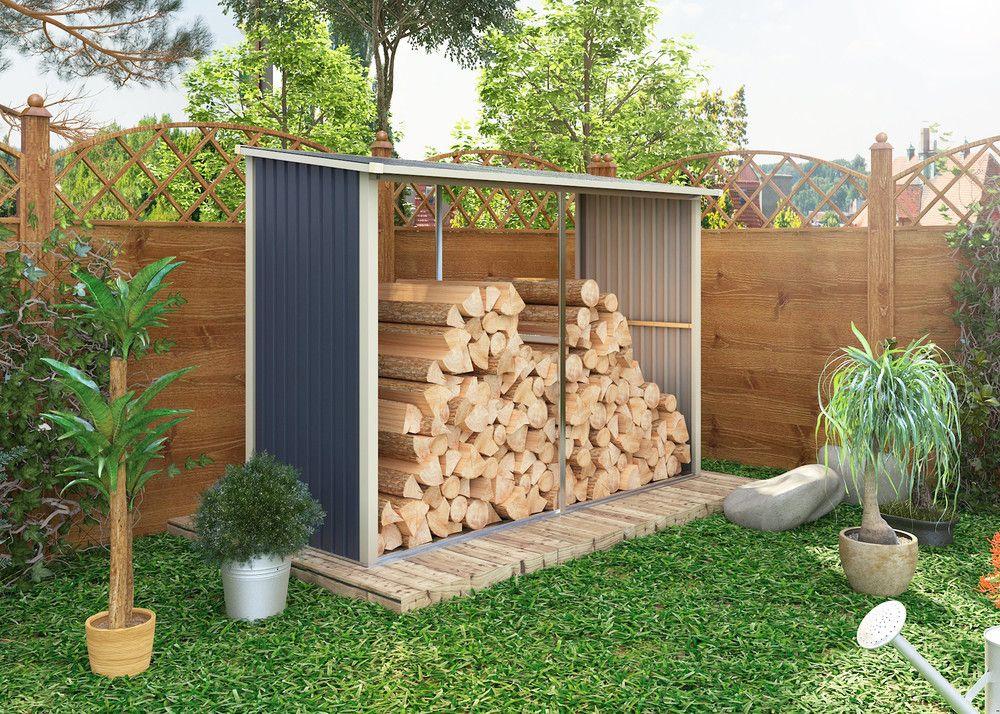 Záhradný prístrešok na drevo WA-C, 190 x 302 x 119 cm