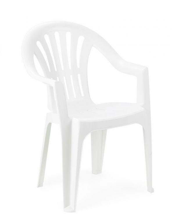 Stolička nízka KONA - biela