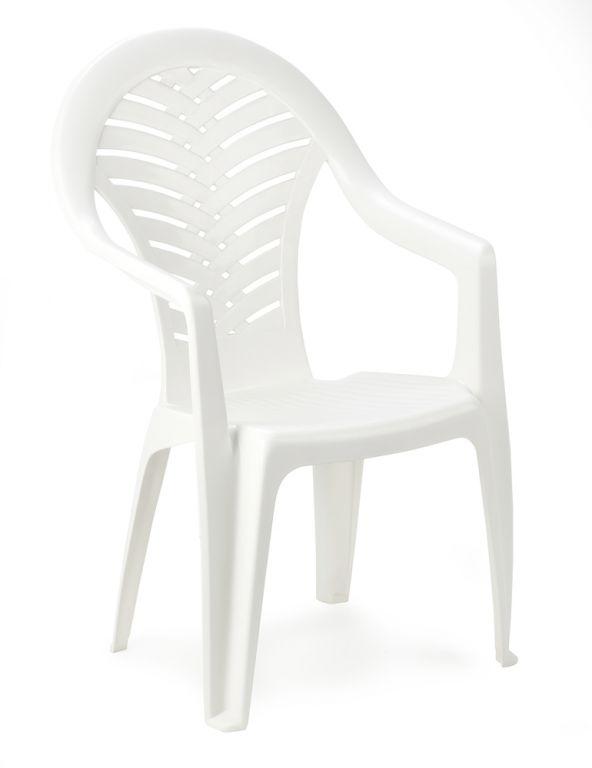 Stolička vysoká OCEÁN - biela